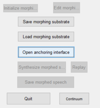 Open anchoring interface